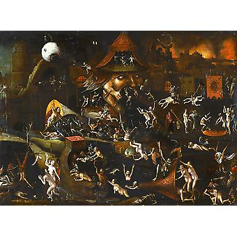 Hieronymus Bosch - The Harrowing of Hell Poster Print Giclee