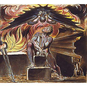 William Blake - Spectre over Los Poster Print Giclee