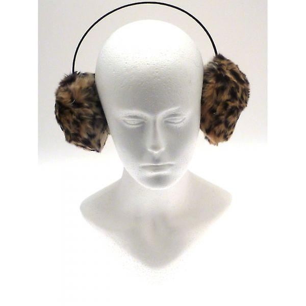 W.A.T Leopard Print Faux Fur Furry Ear Muffs