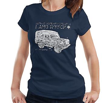 Haynes Workshop Manual Land Rover Camo Black Women's T-Shirt