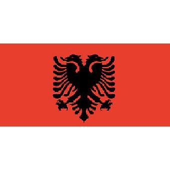 Albanian Flag 5ft x 3ft With Eyelets For Hanging
