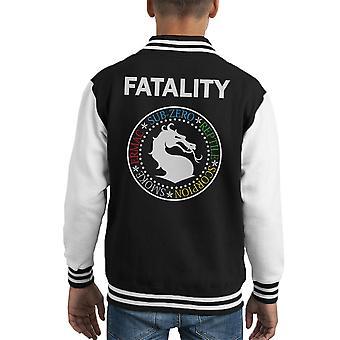 Chaqueta Varsity de Ramones Mortal Kombat Fatality infantil