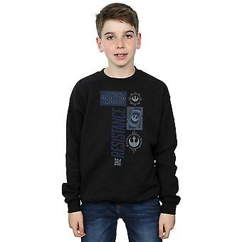 Star Wars Boys The Last Jedi The Resistance Sweatshirt