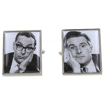 Zennor Morecambe and Wise Cufflinks - Black/Silver