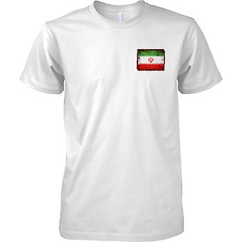 Iran Grunge Grunge efekt flaga - dzieci piersi Design T-Shirt