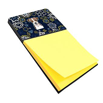 Blue Flowers Jack Russell Terrier Sticky Note Holder