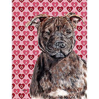 Staffordshire Bull Terrier Staffie cuori e amore bandiera del giardino