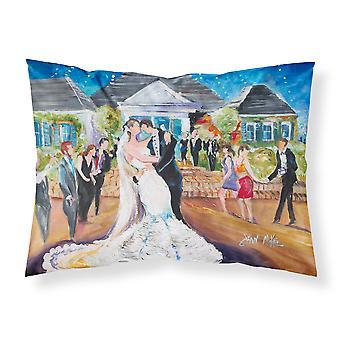 Nuestra boda día tela estándar funda de almohada