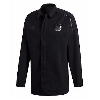 2018-2019 Kolumbien Adidas ZNE gewebt Anthem Jacke (Black)