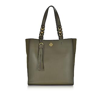 Tory Burch women's 43716325 green leather tote