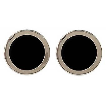 Tyler and Tyler Two Tone Bold Cufflinks - Black/Gold