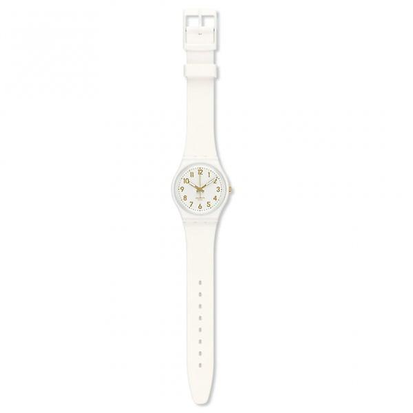 Swatch Gw164 White Bishop White And Gold Watch