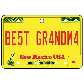 New Mexico - Best Grandma License Plate Car Air Freshener