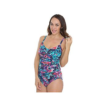 Seaspray SY007048 Women's Multicolour Motif Costume One Piece Swimsuit