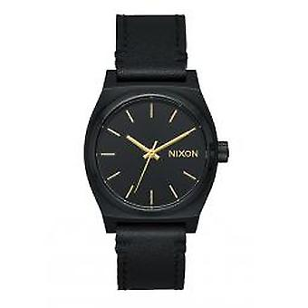Nixon The Medium Time Teller Leather All Black (A1172-001)