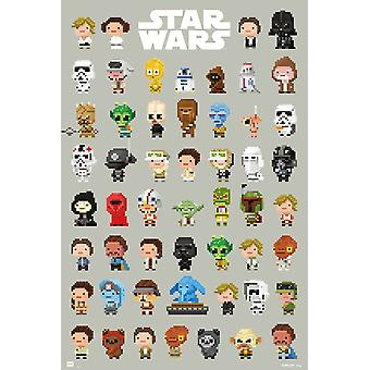 Star Wars 8-Bit Characters Poster Poster Print
