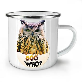 Scary Owl Who Cool NEW WhiteTea Coffee Enamel Mug10 oz | Wellcoda