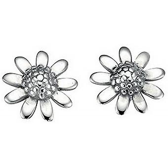 Beginnings Flower Stud Earrings - Silver