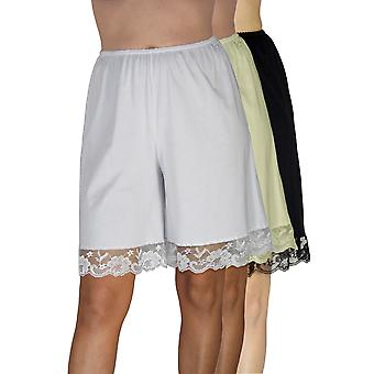 Underworks Pettipants Cotton Knit Culotte Slip Bloomers Split Skirt 9-inch Inseam