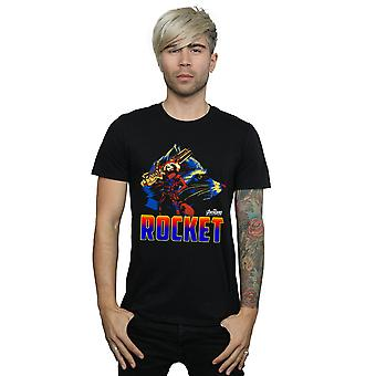 Avengers Men's Infinity War Rocket Character T-Shirt