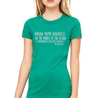 Napoleon Dynamite Imagine Text Only Women's Kelly Green Funny T-shirt