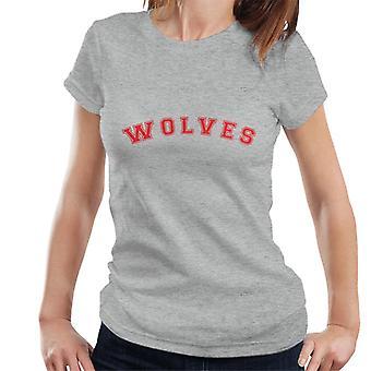 Wolves Baseball Style Font Women's T-Shirt