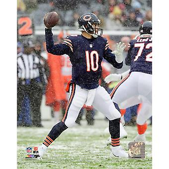 Mitch Trubisky 2017 Action Photo Print