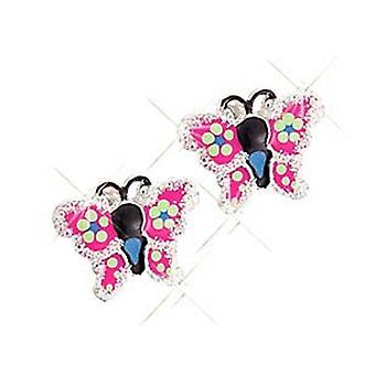 Scout children earrings silver butterfly glitter girl 262126100