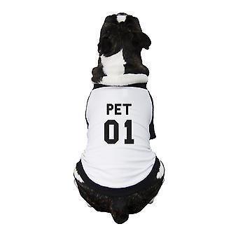 Pet01 Pet Baseball Shirt Funny Graphic Baseball Tee For Small Dogs