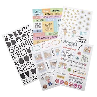 Glitter Stickers Value Pack-Friends For Life