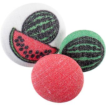 Fabricraft - Fabric Covered Buttons 8/Pkg-Watermelons