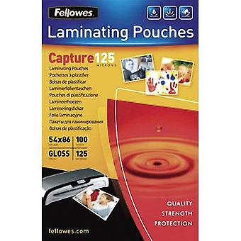 Laminate sheet Fellowes 86 x 54 mm, Credit card 125 micron glossy 100 pc(s)