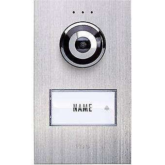 m-e modern-electronics VDV 610 compact Video door intercom Corded Outdoor panel Detached Stainless steel