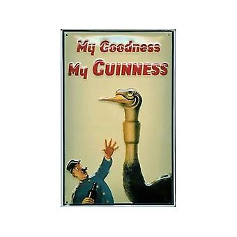 Letrero de Metal en relieve Guinness avestruz