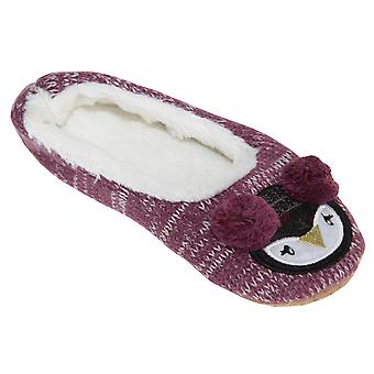 Slumberzzz Womens/Ladies Animal Earmuff Ballerina Slippers