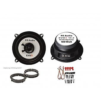 13cm coaxial, 2 voies coaxiales, Honda Civic 2001-2006 haut-parleur frontal incl. Bagues d'adaptation