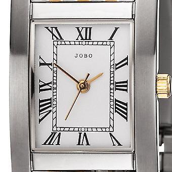JOBO 女士手表石英模拟不锈钢双色镀金女士手表