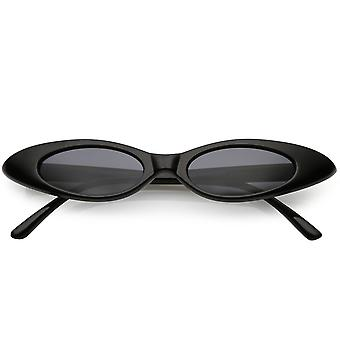 Ultra Thin Extreme Oval Sunglasses Neutral Colored Oval Lens 47mm