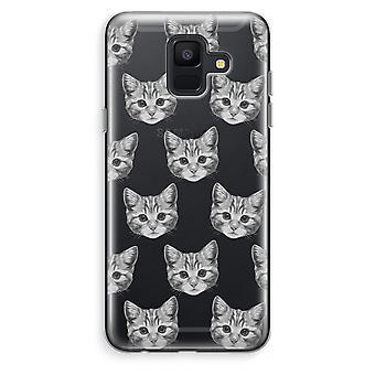 Samsung Galaxy A6 (2018) Transparent Case (Soft) - Kitten