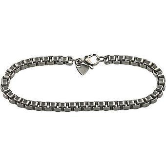Ti2 Titanium Box Bracelet - Silver