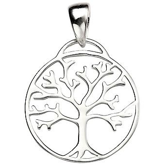 Beginnings Tree of Life Cut Out Pendant - Silver