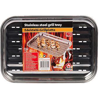 Grill Platte 34, 5x24cm Edelstahl