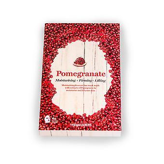 Vitamasques Pomegranate (Box of 4) Moisturising + Firming + Lifting