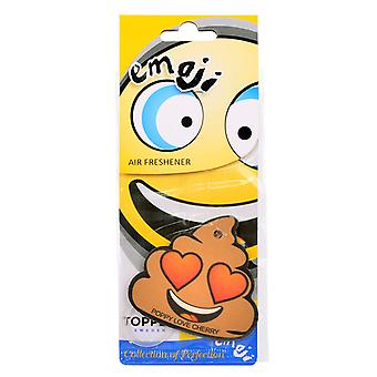 Doftgran To The Car Air Freshener Emoticon Poop Love Cherry