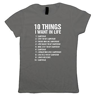 10 Things, Womens Funny Campervan T Shirt