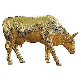 Cow Parade Mira Moo oro (grande)