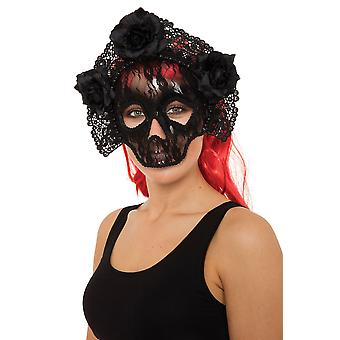 Pretty Deadly Lace Skull Eye Mask