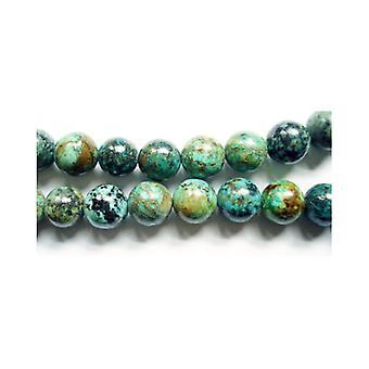 Les africains Jasper Strand 95 + bleu/vert 4mm plaine ronde perles GS1571-1