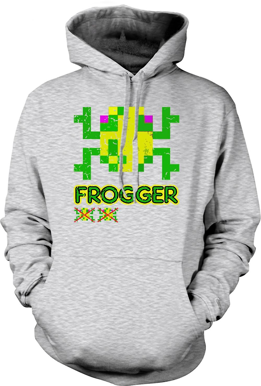 Mens Hoodie - Frogger - Classic Arcade Game 0s Gamer