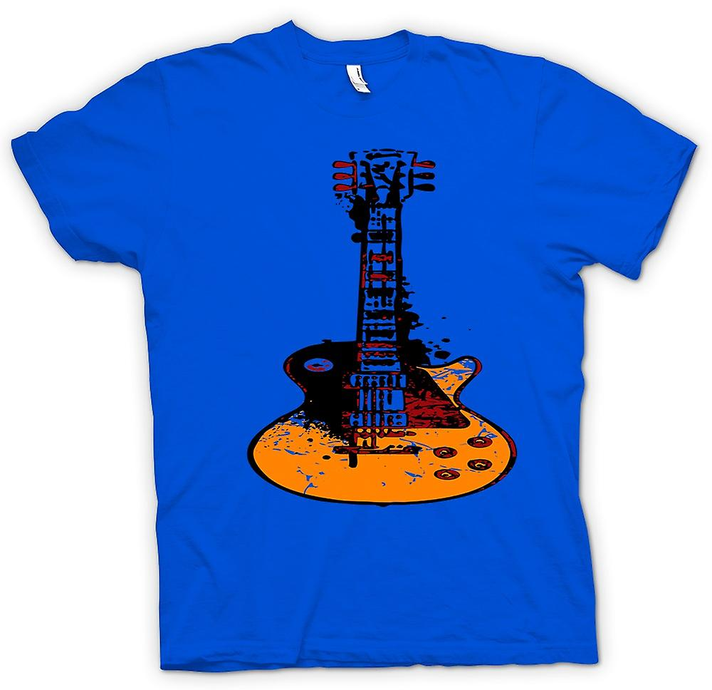 Mens T-shirt - Gibson Les Paul Guitar Rock Blues - Música